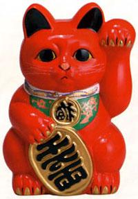 Resultado de imagem para Um pouco sobre os Gatos da Sorte japoneses Vermelho